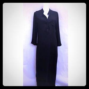 Sheet long black dress